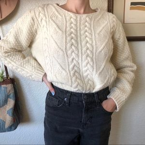 Chunky Cable Knit Wool Sweater